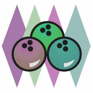 retro bowling balls design photo cutout