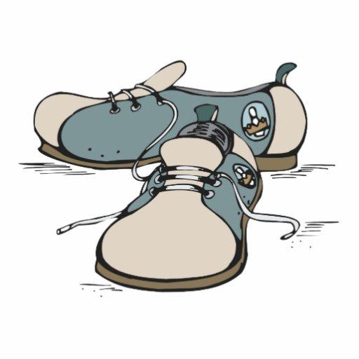 retro bowling shoes design photo cutouts