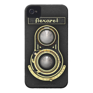 Retro Brass TLR Camera iPhone 4 Case-Mate Cases