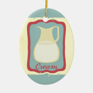 Retro breakfast cream pitcher Christmas ornament