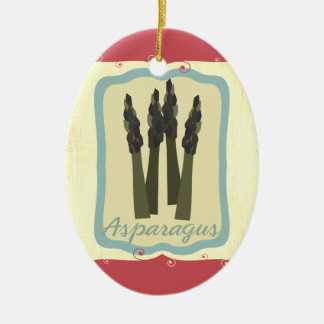 Retro breakfast food asparagus Christmas ornament