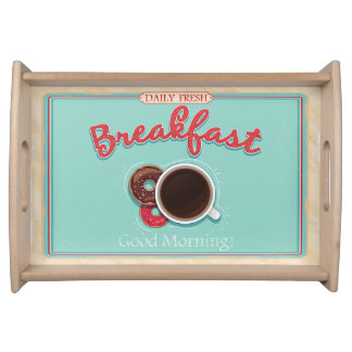 Retro Breakfast Serving Tray