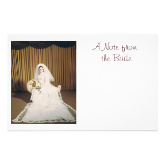Retro Bride Note Paper Personalized Stationery