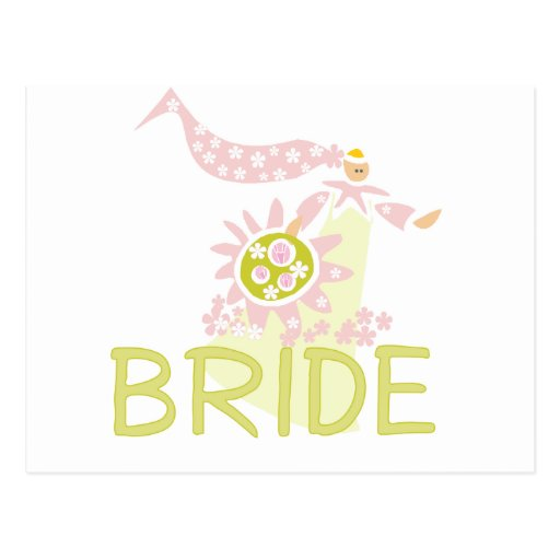 Retro Bride Tshirts and Gifts Post Cards