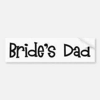 Retro Bride's Dad Bumper Sticker