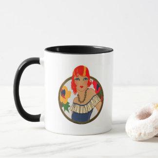 Retro Bridge Tally Redhead Mug