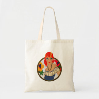 Retro Bridge Tally Redhead Tote Bag