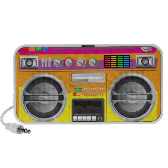 retro bright colours boom box ghetto blaster portable speaker