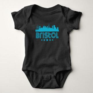 Retro Bristol Skyline Baby Bodysuit