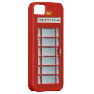 Retro British Telephone Booth Red Personalized Case For The iPhone 5