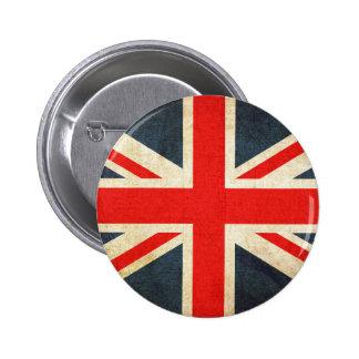Retro British Union Jack Flag 6 Cm Round Badge