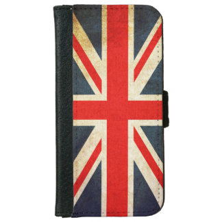 Retro British Union Jack Flag iPhone 6 Wallet Case