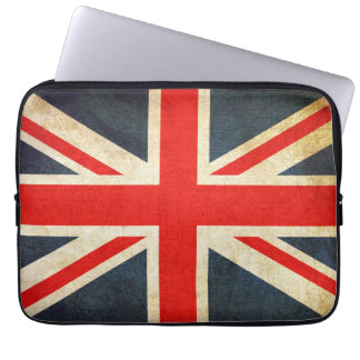 Retro British Union Jack Flag Laptop Sleeve