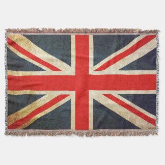 Retro British Union Jack Flag Throw Blanket