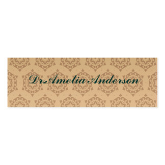 retro,brown,beige,floral,70's, pattern,vintage,tre Double-Sided mini business cards (Pack of 20)