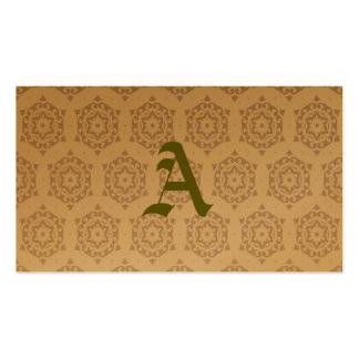 retro,brown,beige,floral,70's, pattern,vintage,tre pack of standard business cards