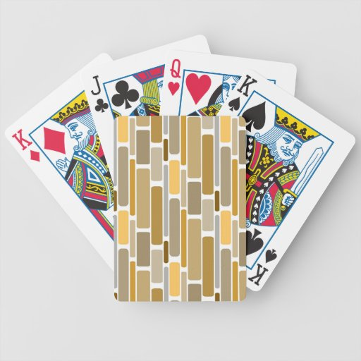 Retro Brown Poker Deck