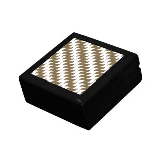 Retro Brown Wave Pattern Jewelry Boxes
