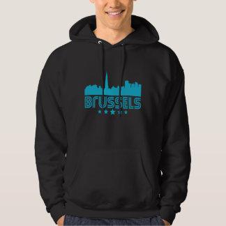 Retro Brussels Skyline Hoodie