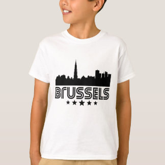 Retro Brussels Skyline T-Shirt