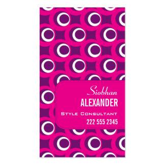 Retro Bubbles Fuchsia Purple Pack Of Standard Business Cards
