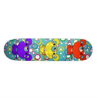 Retro Bubbles with Cartoon Mice Skateboard Deck