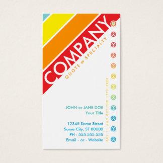 retro bullseye punchcard (buy 11 get 1 free) business card