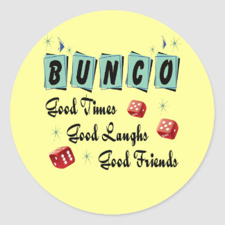 Retro Bunco Classic Round Sticker