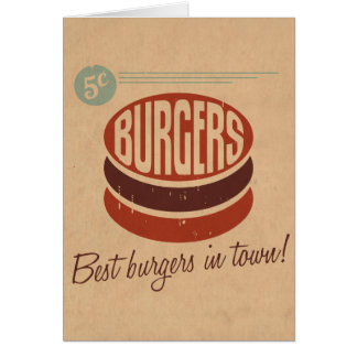 Retro Burger Stationery Note Card