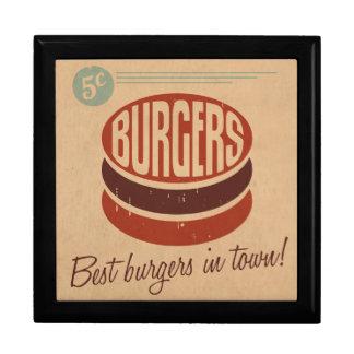 Retro Burger Jewelry Boxes