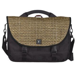 Retro Burlap Texture Pattern Bag For Laptop