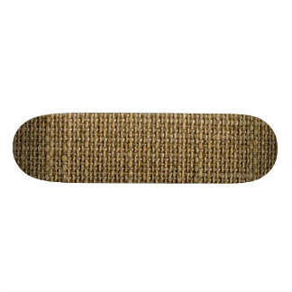 Retro Burlap Texture Pattern Skate Decks