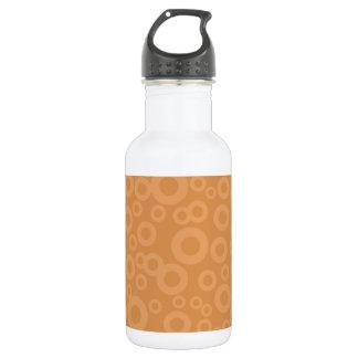 Retro Burnt Orange Circles Pattern 532 Ml Water Bottle