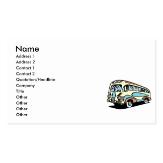 retro bus motor coach pack of standard business cards