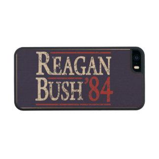 Retro Bush Reagan 84 Election Carved® Maple iPhone 5 Slim Case