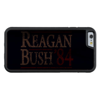 Retro Bush Reagan 84 Election Carved® Walnut iPhone 6 Bumper