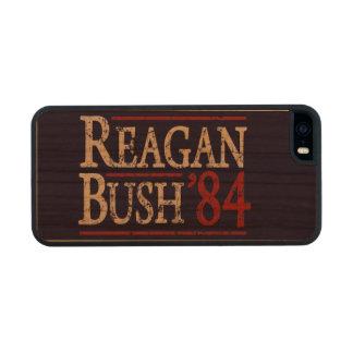 Retro Bush Reagan 84 Election Wood iPhone SE/5/5s Case