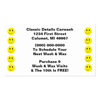 Retro Business Punch Cards Happy Face Smiling Dots Pack Of Standard Business Cards