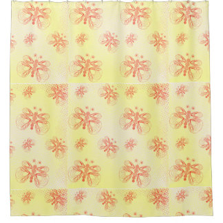Retro butterflies pattern with halftones shower curtain