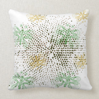 Retro butterflies pattern with halftones throw pillow
