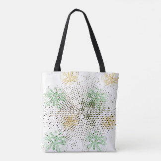 Retro butterflies pattern with halftones tote bag