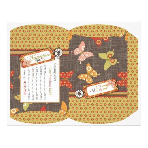 Retro Butterflies Puff Box Custom Flyer