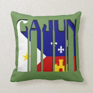Retro Cajun Acadiana Flag Louisiana Throw Pillow