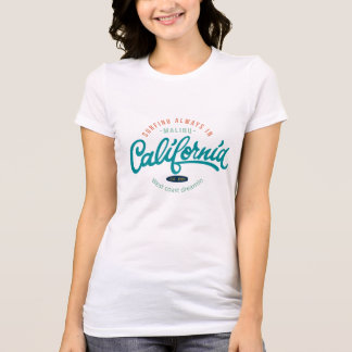 Retro California Surf Design Women's T-shirts