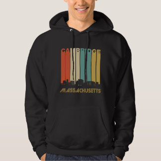 Retro Cambridge Massachusetts Skyline Hoodie