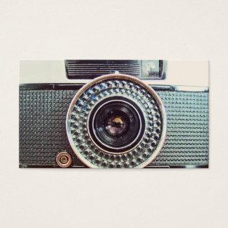 Retro camera business card