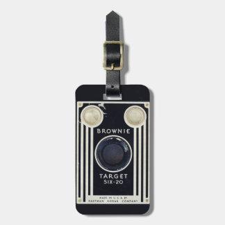 Retro camera kodak brownie target luggage tag