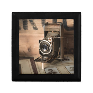 Retro Camera Small Square Gift Box