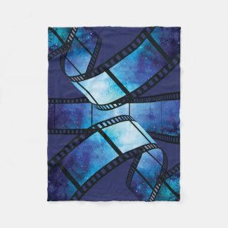 Retro camera space fleece blanket