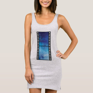 Retro camera space sleeveless dress
